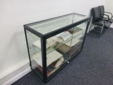 5 tier freestanding lockable illuminated glazed display cabinet 1200mm x 400mm x 9000mm