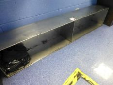 2m long x 390mm high stainless steel shoe changing bench