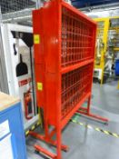 3 purpose built DVD case inspection stands (red)