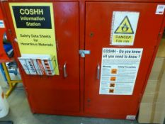 1500mm x 430mm x 1530mm steel secure double door flammables cabinet