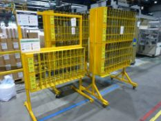 3 purpose built DVD case inspection stands (yellow)
