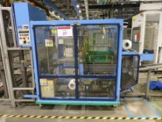 GEI Europack Collator Wrapper Bander Serial No. 21113 , plant No 10745 with delivery conveyor to