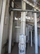 PST V8-360 vertical auger screw conveyor, approx. 9.6m height x 350mm dia, serial no: 0923B11 (