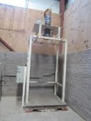 HK Process Measurement steel framed silo feed weigh scale with digital control, model System 2X,