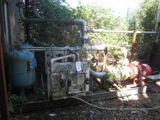 Steel framed skid mounted water pump system, to include 2 Armstrong fire pumps, two water receiver