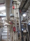 Unnamed bucket elevator, approx. 8m height, with 4 fitted Fike Ele-Quench flameless explosion vents,