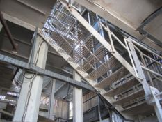 Steel framed stepped gantry access steps and platforms, approx. 8m x 4m and 1m x 12m. **A work