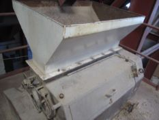 Simin Barran CF7 triple roller crumber, 1100mm dia, order no. M60956/01 (9/85), with outfeed