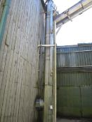 PST vertical auger screw conveyor, model & serial no. too high to read, height approx. 8m x 500mm