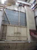 Doyle hold bin/hopper loader, approx. 40 tonne capacity with auger screw conveyor, leading to mills,