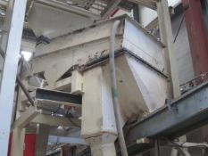 Unnamed vibrating screen with outfeed silo and drop chute. **A work Method Statement and Risk