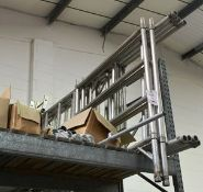 Aluminium mobile collapsible scaffold tower, with catwalk support, without beam (please note: This