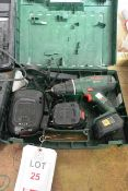 Bosch PSB 18 LI-2 battery powered drill with charger and case (please note: This lot is located at