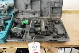 Hitachi DV14DV battery operated drill, with two batteries, charger & carry case (please note: This