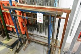 Four steel trestles (please note: This lot is located at the Swindon premises)