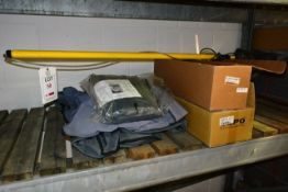 Various vans seat covers, headlight units and van brush, etc. (please note: This lot is located at