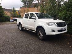 Toyota Hilux double cab pick up, registration LL15 CYA, DOR 1.5.2015, mileage 143,686, V5 present...