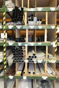 Contents of racking bay marked including drain pipe (round / square) guttering, soffit and trim (