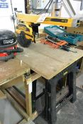 Dewalt DW721 radial arm saw, serial no. 000366 (2001), 240v (please note: This lot is located at the