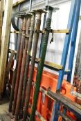 Six accro props (please note: This lot is located at the Swindon premises)