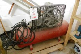 Fiac UK AF15/150/1 Receiver mounted air compressor, serial no. FP4036 (2002) (please note: This