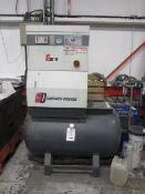 Gardner Denver type ESE11 receiver mounted air compressor, serial no. 65661 (2005), max pressure