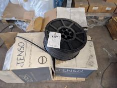 Three boxes of Tenso strapping reels, 5 reels