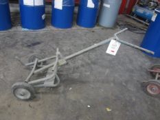 Metal frame barrel trolley