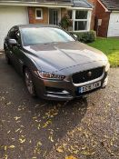 Jaguar Xe R-Sport 2.0d Auto. 180bhp saloon. Registration number: OE15 TXM (2015). Recorded