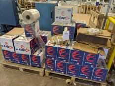 Two pallets of approx 49 boxes of e-tape No2 (36 rolls per box at 48 x 150