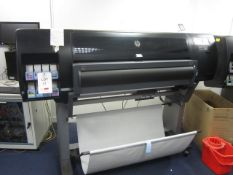 HP Designjet 26200, 8 colour photo printer, serial no. MY838J9018 (2018), with Spinjet Techsidge