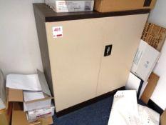 Twin door steel half height filing cabinet