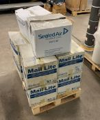 8 boxes of Mail Lite sealed air postal packages