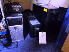 HP Proliant ML310e Gen8v2 server, APC Smart UPS, 1500 back ups and a APC Smart UPS 2200 back up