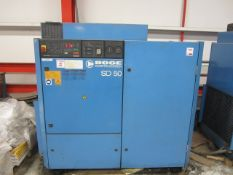Boge Kompressosen SD 50 packaged air compressor, Boge Ratiotronic controls, machine no. 35674, run