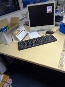 HP Pro computer system, Fujitsu Siemens flat screen monitor, keyboard, mouse