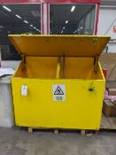 Steel frame top loading chemical storage cabinet, 1500 x 600mm