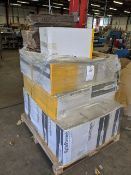 Pallet of 21 boxes of safestretch shrink wrap, 4 x 400mm x 1000m black hand stretch wrap