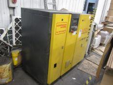HPC Plusair SK 21T packaged air compressor, type SK21T, serial no. 1074 (2005), 8.0 bar, run hours