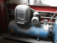 ABAC Air Compressor receiver mounted air compressor, model 150 Hp3, code 4116007362 (2014), 10 bar