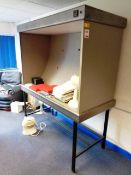 Unnamed inspection cabinet, 1500x720mm mounted on pedestal