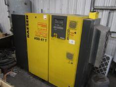 Kaeser HPC ASD 47T package air compressor, model ASD47T, serial no. 1151 (2007), 8.0 bar, run