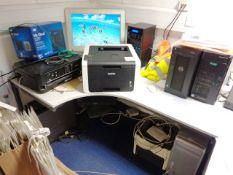 Apple Mac Pro pc - hard drive removed (s/n CK8240JBXYL, model A1186), two MY Cloud PR4100 consoles,
