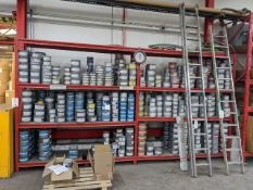 Quantity of assorted part used and unused ink stock pots as per photographs (excludes racking)