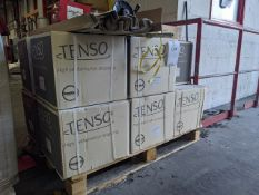 Pallet of 11 boxes of Tenso straping reels, 2 x 1300 LFM per box, 12 x 0.9mm yellow