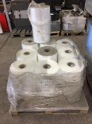 10 rolls of assorted polywrap.