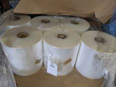 7 reels of 360mm, 25.00mu Poly wrap