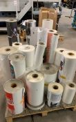 Approx 22 rolls of part used matte rolls
