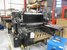 "Original Heidelberg cylinder press, 54 x 77cm x 211/4"" x 301/4"" (Please note: A work Method..."