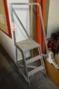Aluminium 3 tread step ladder